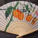 Oranges Fruit Silk Handheld Fan Folding Fans Asian Hand Fan