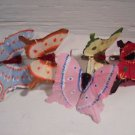 Real Feather Butterfly's EA Hand Painted 5 PC SET Butterfly w/ Metal Clip