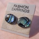 Paula Shell Post Oval Earrings Hand Made  #FJW291