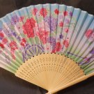 Colorful Flower Floral Silk Handheld Fan Folding Fans Asian Hand Fan #Fan154