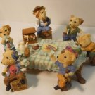 PIRATE BEARS BEER PARTY FIGURINE SET HAND PAINTED 7 PCS #Fig702
