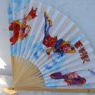 Asian Chinese Folding Hand Held Fans with Monkeys #Fan184