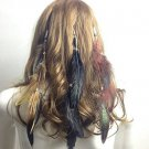 Feather Stylish Clips Hair Extensions Hand Made Assorted Colors