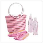 Strawberry Bath Set with Tote Bag