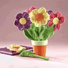 6 PC. FLOWER PENS & POT HOLDER