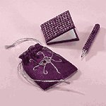 BEADED PEN & NOTEPAD POUCH SET