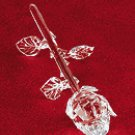 CUT GLASS SINGLE ROSE