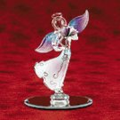 GLASS ANGEL HOLDING ROSE
