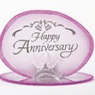 HAPPY ANNIVERSRY GLASS CHOLDER