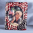 5X7 PTCHWRK PIC FRAME-AME FLAG