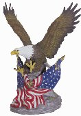 PORC. EAGLES ON AMERICAN FLAGS