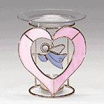 GLASS ANGEL HEART OIL WARMER