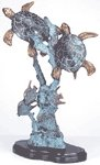 BRASS TURTLES ON SEABED