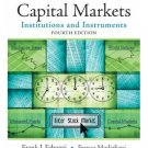 Capital Markets: Institutions and Instruments (4th Edition)