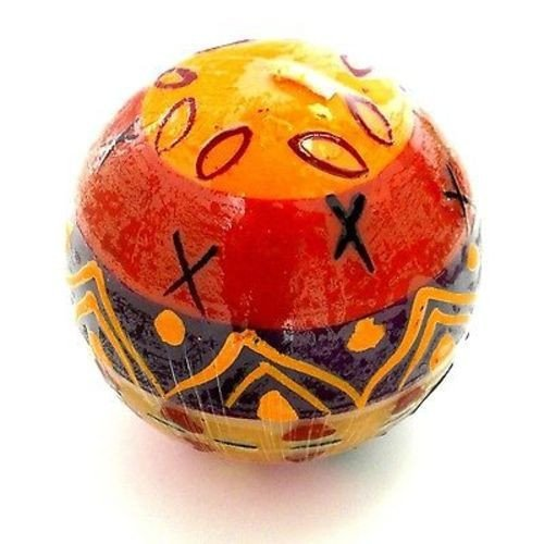 Handmade Hand Painted Ball Candles South African Fair Trade Nobunto-Indaeuko Design