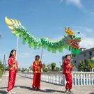 3.1 M children size green CHINESE DRAGON DANCE silk Folk Festival Celebration Costume  boy