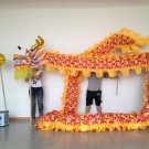 10m Length sz5# boy yellow silk print fabric 8 student Chinese DRAGON DANCE Folk  mascot Costume