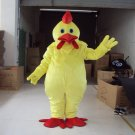 Free ship yellow cock chicken farm animal Christmas Mascot Costume Cartoon Adult size Festival Party