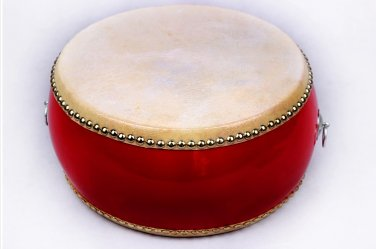 25cm children red drum with Drumsticks Chinese Percussion Musical Cowhide chlidren adult  lion dance