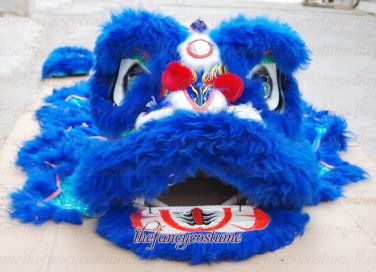F/S CHILDREN blue B24 Southern Lion Dance mascot Costume pure wool  Festival christams