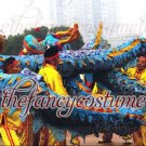 6m size 4 blue 4 adult silk frabic CHINESE DRAGON DANCE Folk Festival mascot Costume
