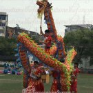 14m size 4 colorful 8 adult silk frabic CHINESE DRAGON DANCE Folk Festival mascot Costume