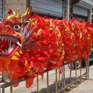 SALE 14m size 4 red 8 adult silk frabic Decor stage ride CHINESE DRAGON DANCE Folk Festival Costum
