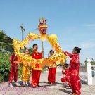 7.9m size 6 # 8 kid yellow golden plated CHINESE DRAGON DANCE Folk Festival Celebration Costume
