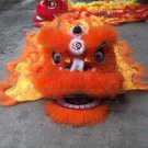 Single CHILDREN kids2-5 age orange Southern Lion Dance mascot Costume pure wool  Festival christams
