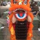 Single CHILDREN kids 5-10 age orange Southern Lion Dance  Costume pure wool  Festival christams