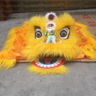 Single CHILDREN kids 5-10 age yellow Southern Lion Dance  Costume pure wool  Festival christams