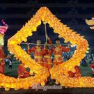 6m size 4 LED YELLOW 4 adult silk frabic CHINESE DRAGON DANCE Folk Festival mascot Costume