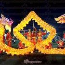 10m size 3# LED yellow 6 adult silk frabic CHINESE DRAGON DANCE Folk Festival mascot Costume