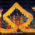 14m size 3# LED yellow 8 adult silk frabic CHINESE DRAGON DANCE Folk Festival mascot Costume