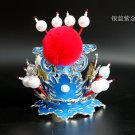 Peking Opera Theatre Head dress Purple and Golden Crown monkey sun Crown mascot costume