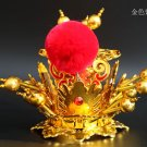 Peking Opera Theatre Head dress Purple and Golden Crown monkey sun Crown mascot costum