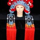 red ball Peking Opera Headgear Costume bride Phoenix crown queen carnival cosplay performance ha