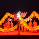 4m sz5 led yellow silk print fabric 4 student Chinese DRAGON DANCE game  Festival mascot Costume