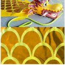 Hand hold 6m long player yellow golden dragon dance adult mascot costume culture holiday party