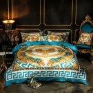 Blue lion Luxury Velvet Flannel Fashion Classic Bedding set Warm Printing Duvet Cover Bed