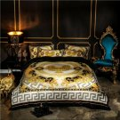 Brown lion Luxury Velvet Flannel Fashion Classic Bedding set Warm Printing Duvet Cover Bed