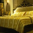 YELLOW  lion Luxury Velvet Flannel Fashion Classic Bedding set Warm Printing Duvet Cover Bed