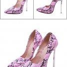 Purple High Heels SIZE Shoes Women Snake Sexy Stilettos 13cm Heeled Serpentine Shoes