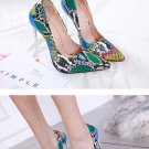 colorful High Heels SIZE Shoes Women Snake Sexy Stilettos 13cm Heeled Serpentine Shoes