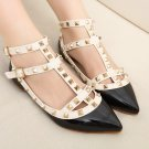 Rock Studs Flats Strappy Pointy  Rivets Walking Hot Women Shoes Plus Size