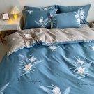 2020 Hot blue flower 100% Cotton Soft Bed Linen Flower Bedding Sets Duvet Cover