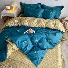 2020 Hot blue 100% Cotton Soft Bed Linen Flower Bedding Sets Duvet Cove