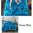 Blue Yellow Quilt Blanket Silk Air Contationer Comforter Satin Bed Covers and Bedspreads