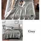 Gray Yellow Quilt Blanket Silk Air Contationer Comforter Satin Bed Covers and Bedspreads