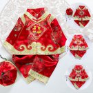 New Year Traditional Chinese Tang Suit Baby Boy Girl Dragon Print Winter Fleece  Hanfu Birthday Gift